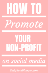 How To Promote Your Nonprofit On Social Media ladybossblogger