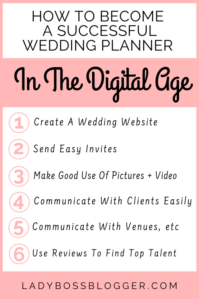 How To Become A Successful Wedding Planner In The Digital Age LadyBossBlogger.com1