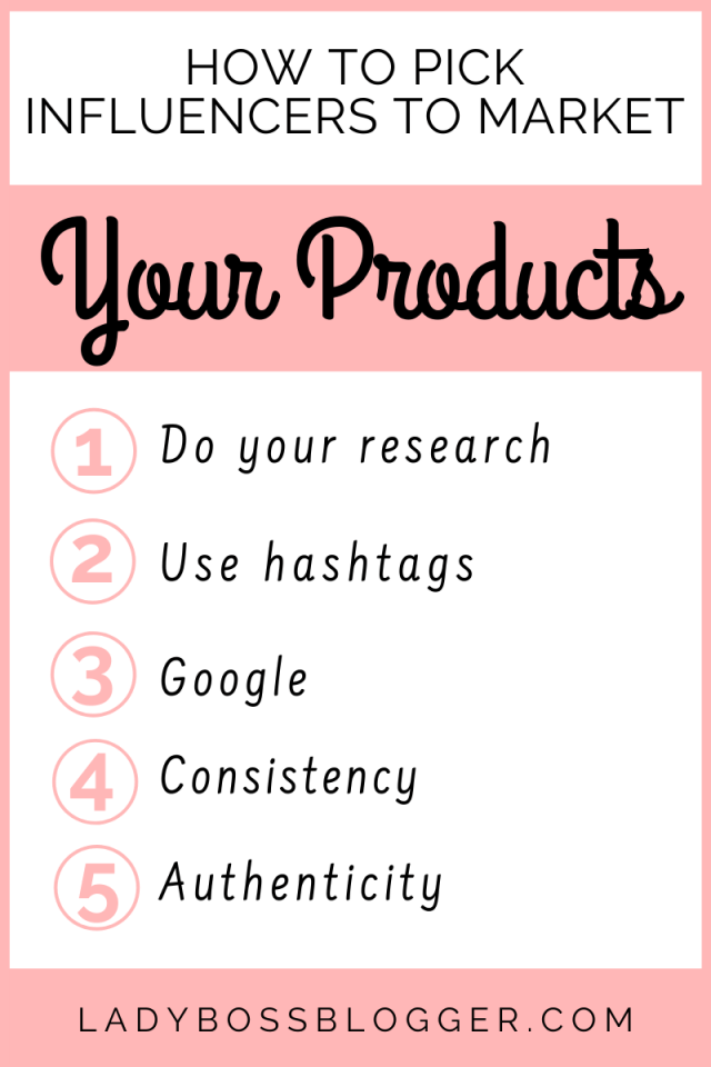 Influencers to Market Your Products ladybossblogger.com