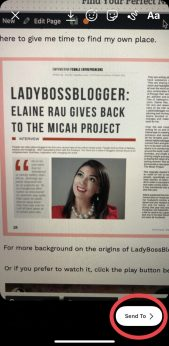 Instagram Story ladybossblogger.com