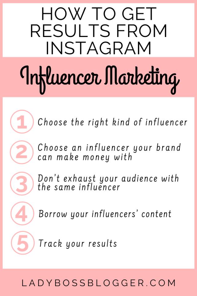 How To Get Results From Instagram Influencer Marketing ladybossblogger.com ladybossblogger.com