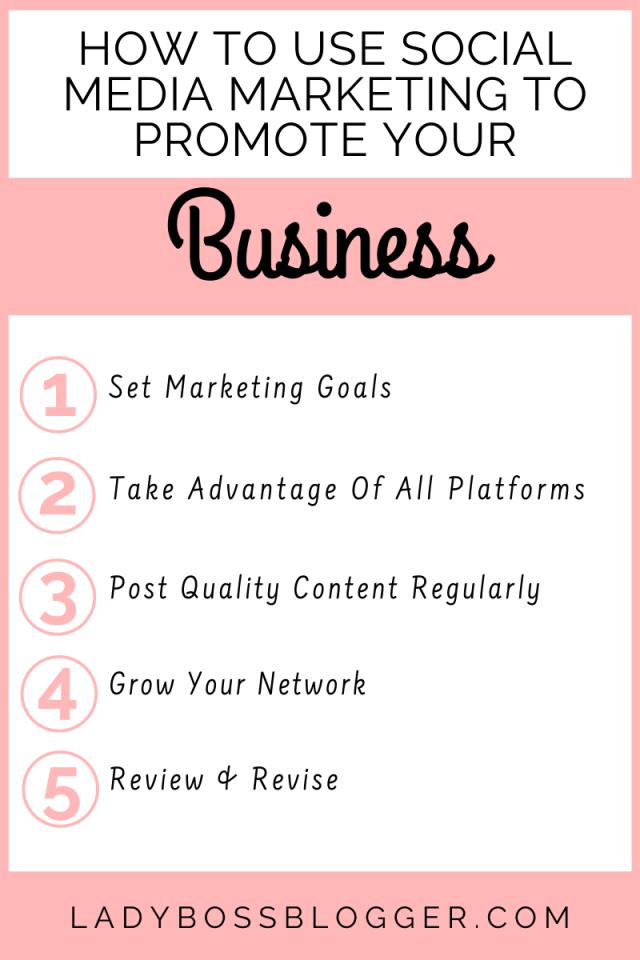social media promote business LadyBossBlogger.com