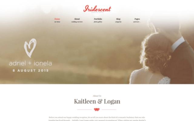 Iridescent - Marriage & Wedding WordPress Theme ladybossblogger.com 2
