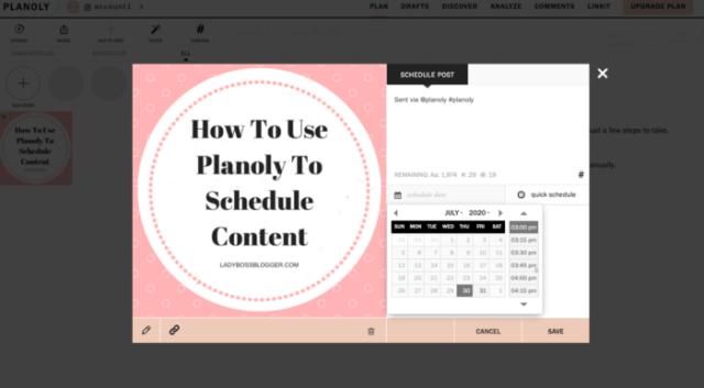 Planoly schedule ladybossblogger.com