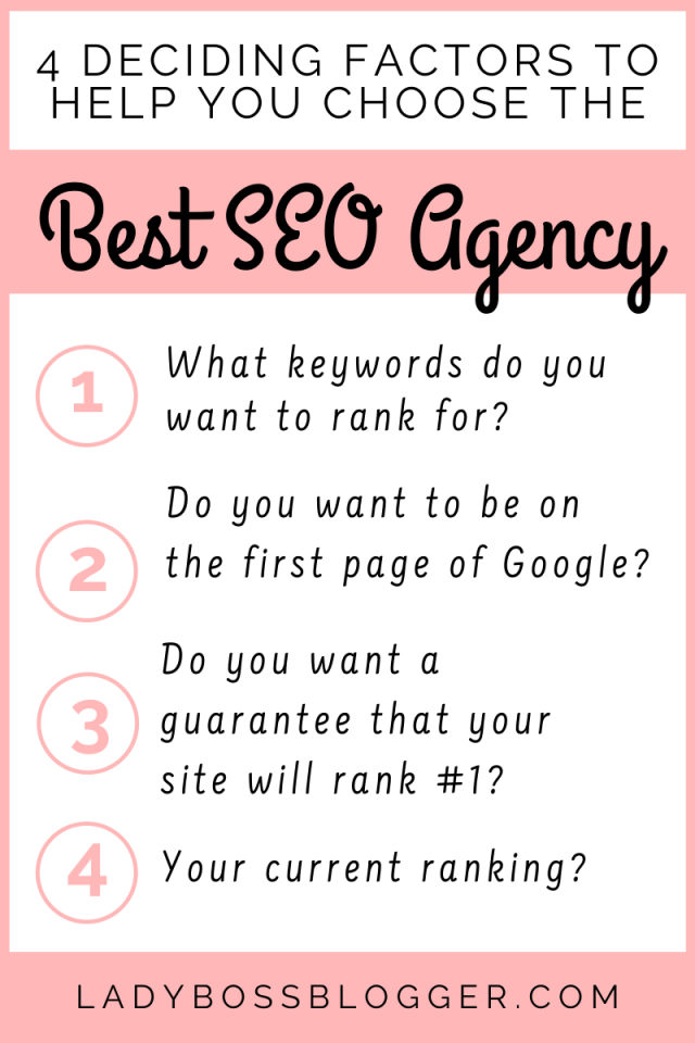 4 Deciding Factors To Help You Choose The Best SEO Agency ladybossblogger (1)