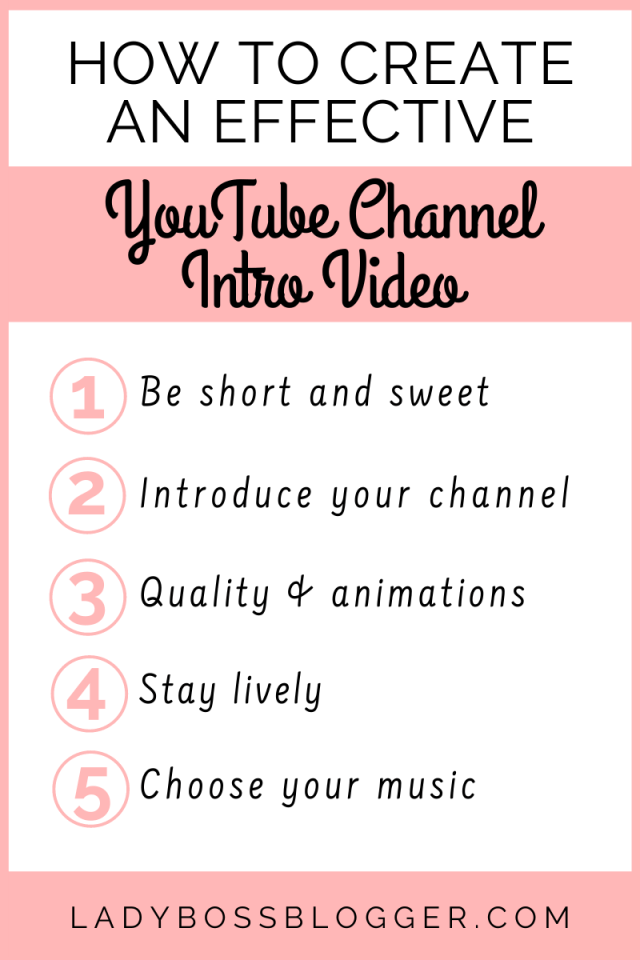 How To Create An Effectice YouTube Channel Intro Video
