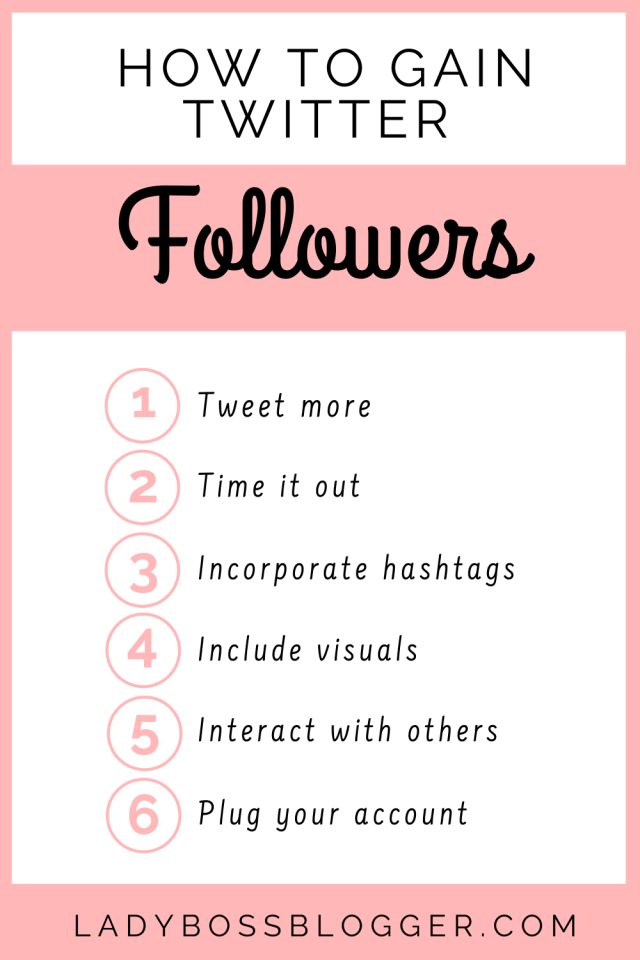 Gain Twitter Followers LadyBossBlogger.com