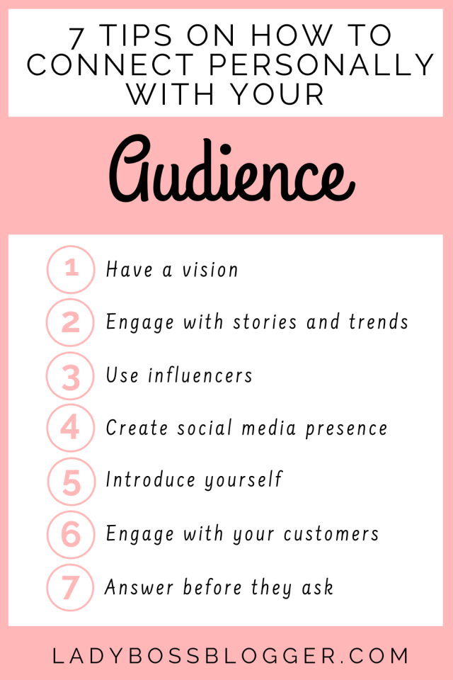 Connect personally audience LadyBossBlogger.com