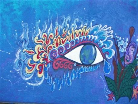 The eye mural