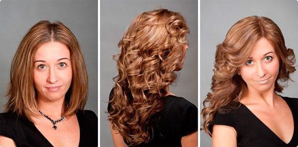 Биозавивка волос: фото до и после, на средние волосы