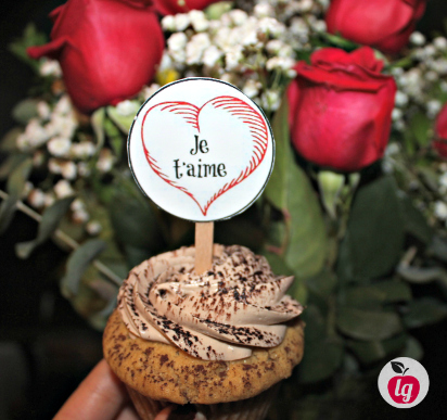 Nutella Cupcake French topper