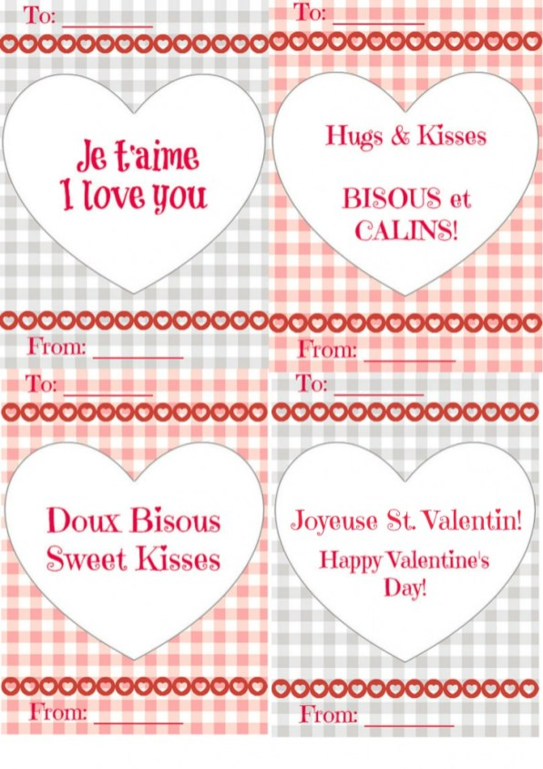 free french valentine 39 s day cards for kids. Black Bedroom Furniture Sets. Home Design Ideas