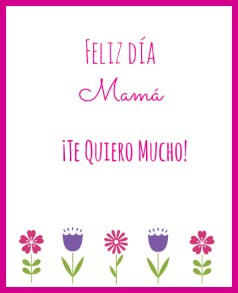 Free Printable Mother's Day Cards in Spanish