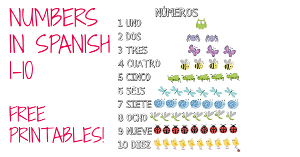 Free Printables: Numbers in Spanish 1-10