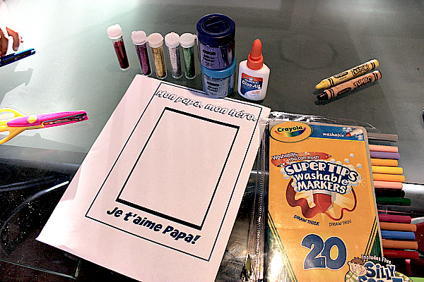 materials for Fathers Day project