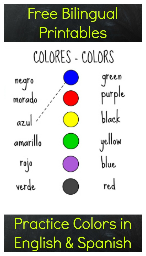free printables to practice colors in spanish. Black Bedroom Furniture Sets. Home Design Ideas