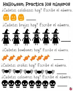 practica-los-numeros-2-Halloween-Spanish-819x1024