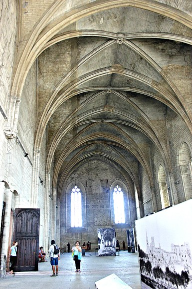 Inside Palais des Papes