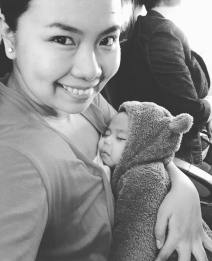 First Flight to SG, breastfeeding made it easier