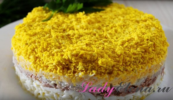 Салат «Мимоза» с тунцом: рецепт с пошаговым фото