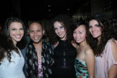 Celebrating after the Runway succes during Be the One Fashion Show with Florence Leung and Models