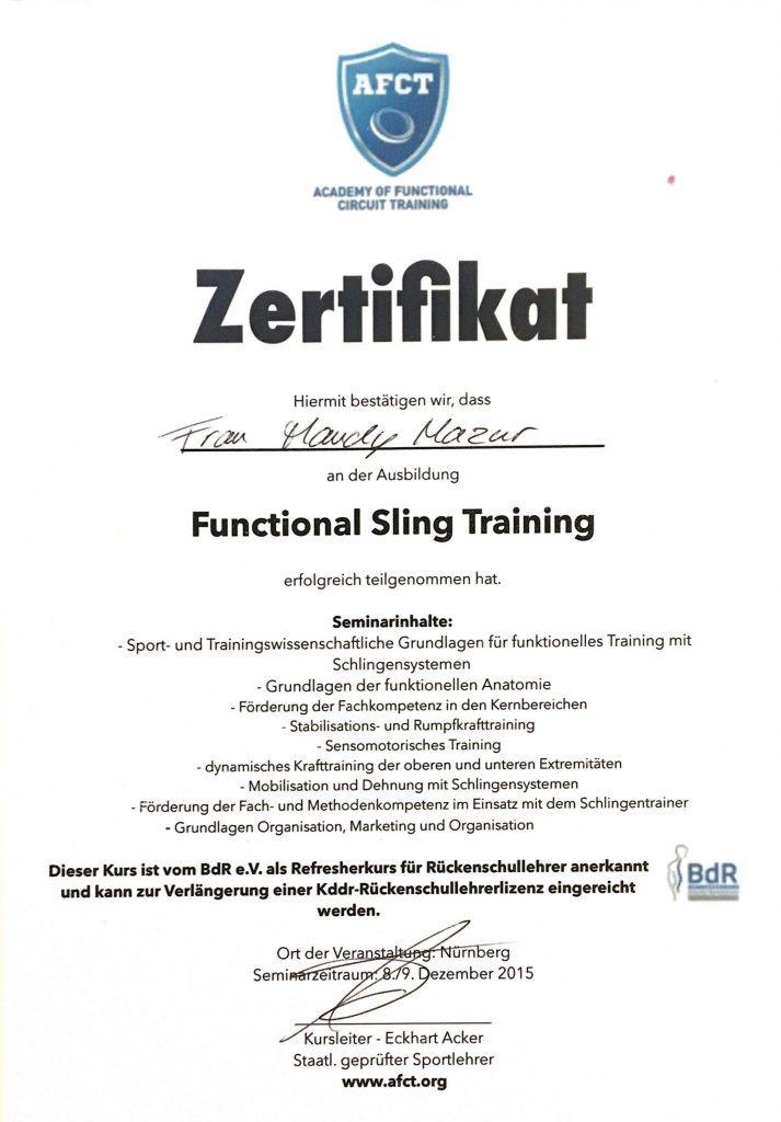 Functional Sling Training