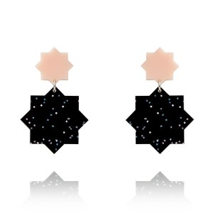 Stardust-Earrings-Blush-Black-Rainbow-Lady-Fox