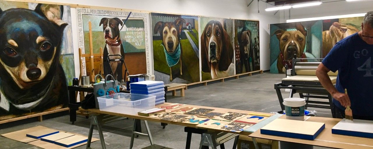 Artist Paints 5,500 Dogs – The Number Killed Every Day at Animal Shelters