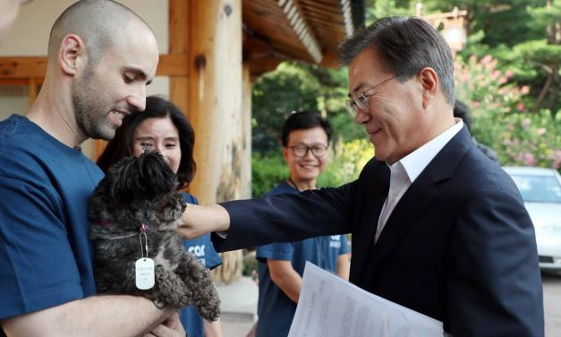 "S. Korea President Adopts Adorable ""First Dog"" Rescued from Dog Meat Trade"