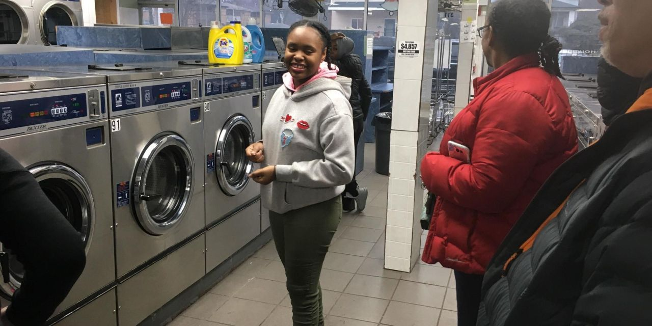 8th Grader Saves Up Her Allowance to Host Free Laundry Day for the Needy