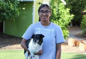 teen activist helps senior dogs