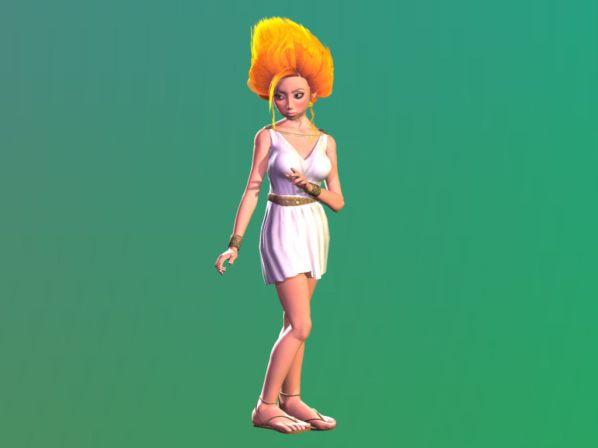 Toonima (based on Victoria 1) with Carrara 7 dynamic hair