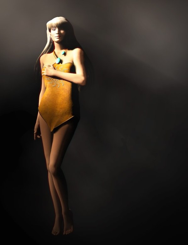 My stitched leather dress texture