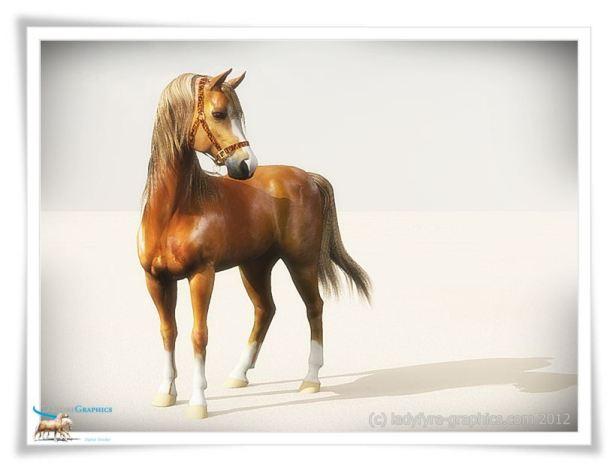 Daz Horse 2 3d Horse Rendered in Vue