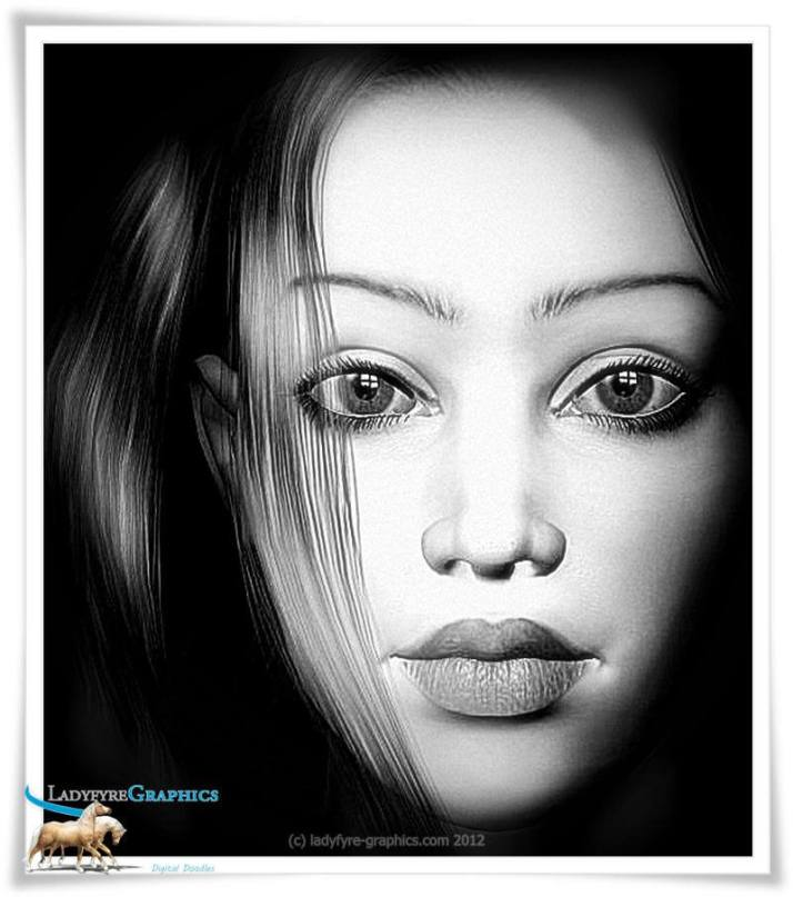 April Poser 3d young girl portrait