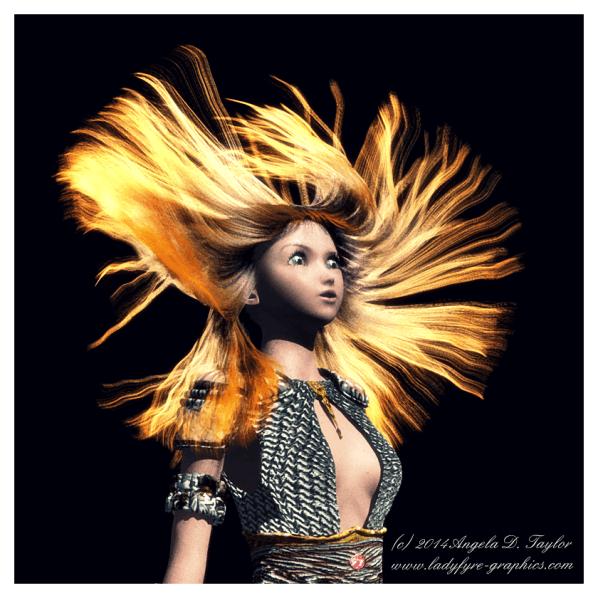 Daz 3d Aiko with Carrara Dynamic Hair