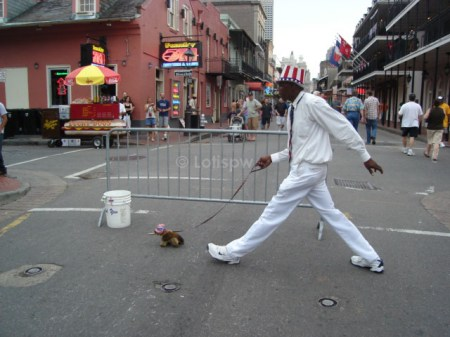 New Orleans street entertainer