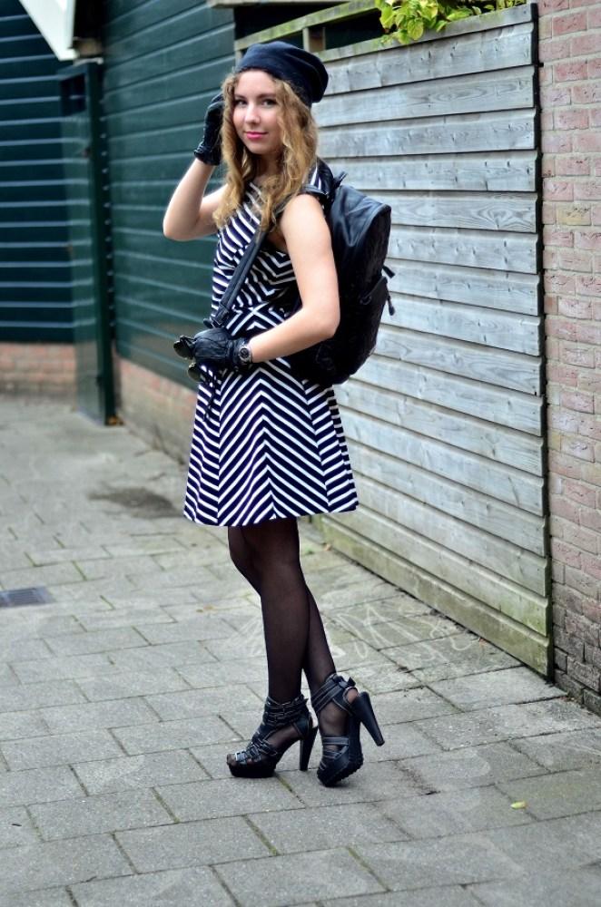 Michael Kors dress and beanie