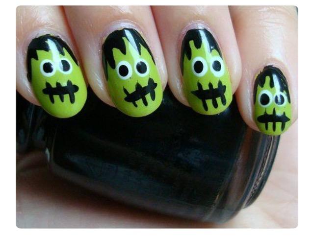 alt-halloween-nail-art-inspiration-frankeinstein