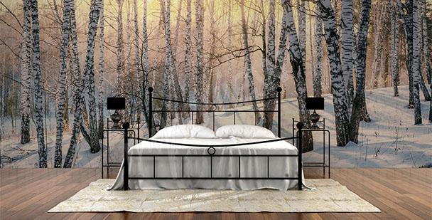alt-papier-peint-mural-forêt-enneigée-My-Loview