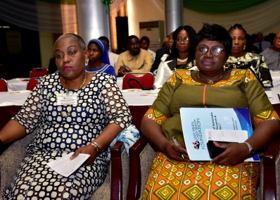 Mrs Laditan Director Special Duties Ecological fund and Tinu Taylor Deputy Director Fed. Min. of Health
