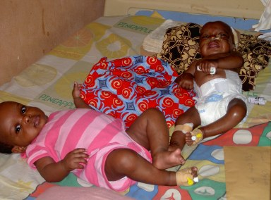 Baby Taiwo and twin sister