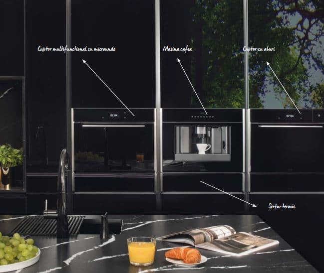 Masina de cafea FRANKE Mythos FMY 45 CM XS Inox satinat - finisaj cristal negru