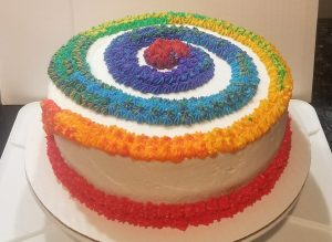 Rainbow Trail Cake