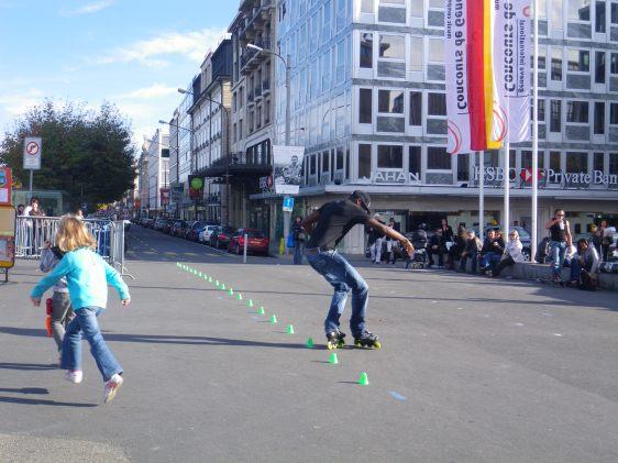 rollerblading in Geneva