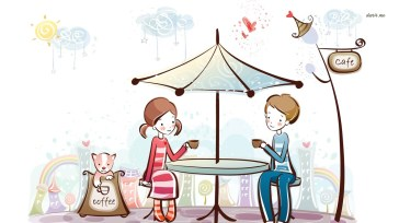 5377-couple-having-coffee-1366x768-digital-art-wallpaper