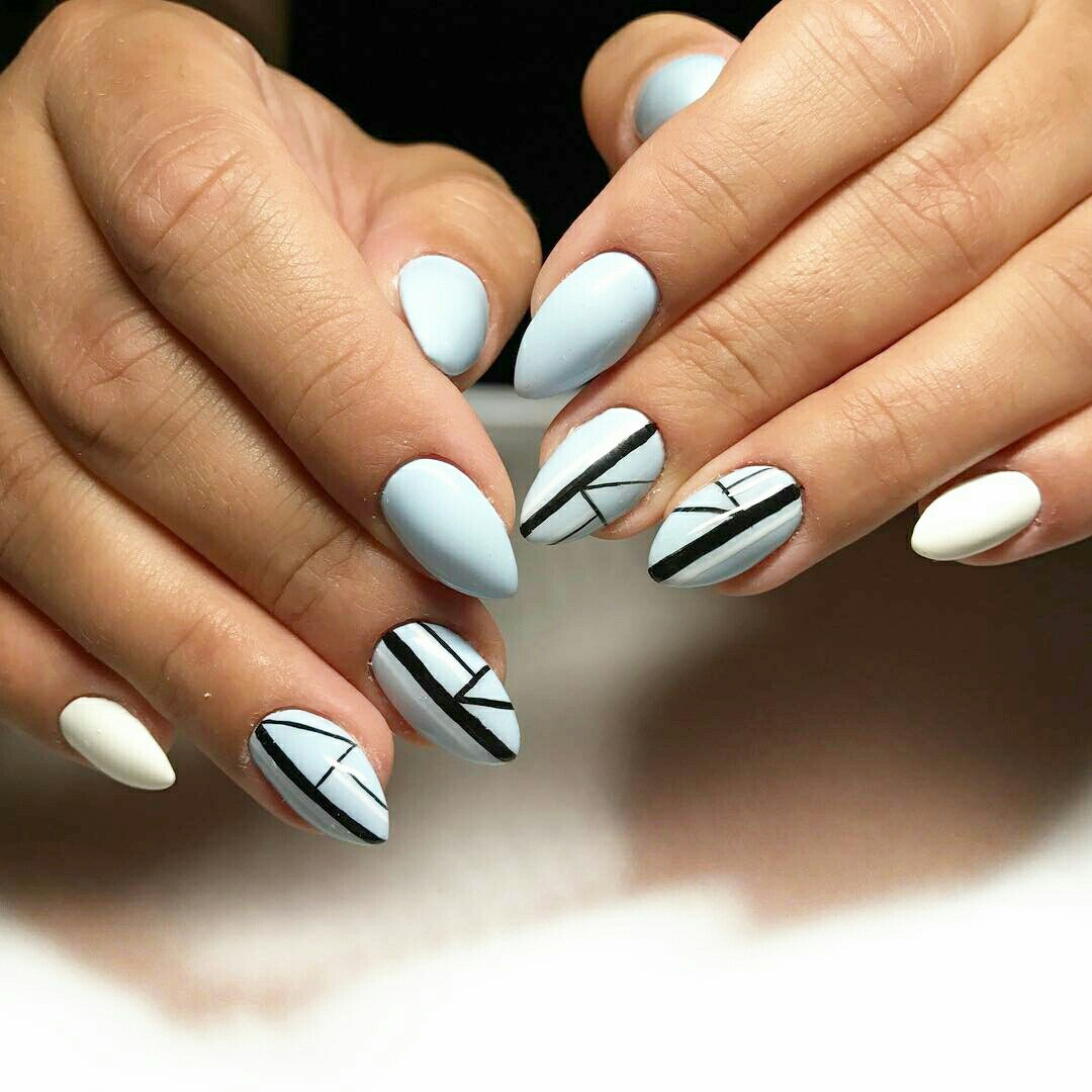 If You Want To Be Edgy This Year Just Try Master Geometric Nail Art It Implies Universality Bined With Modernity Orderliness And Randomness At The