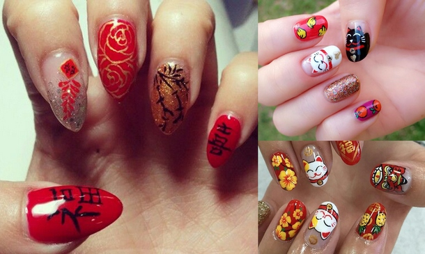 The Chinese Style Is Not Possible Without Red Color So Take It As A Base For Painting Asian Trends In Nail Art Imply Yellow Shades White And Much