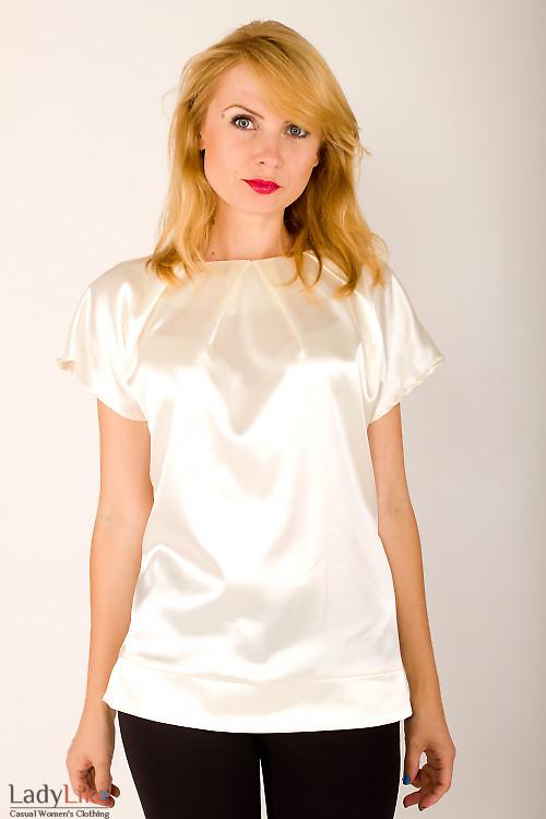 Блузка без рукавов кремовая — купить в интернет-магазине ...