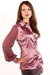 Блузка с плиссированым рукавом — купить в интернет ...